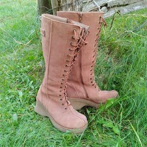 90's or y2k riverland platform chunky tall boots